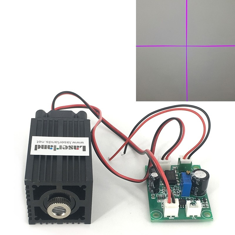 3350 405nm Cross 100mW 120mW 150mW 200mW Focusable Laser Module
