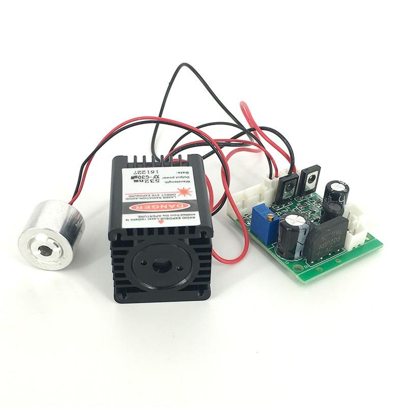 650nm 80mW Red + 532nm 20mw Green Laser Module TTL