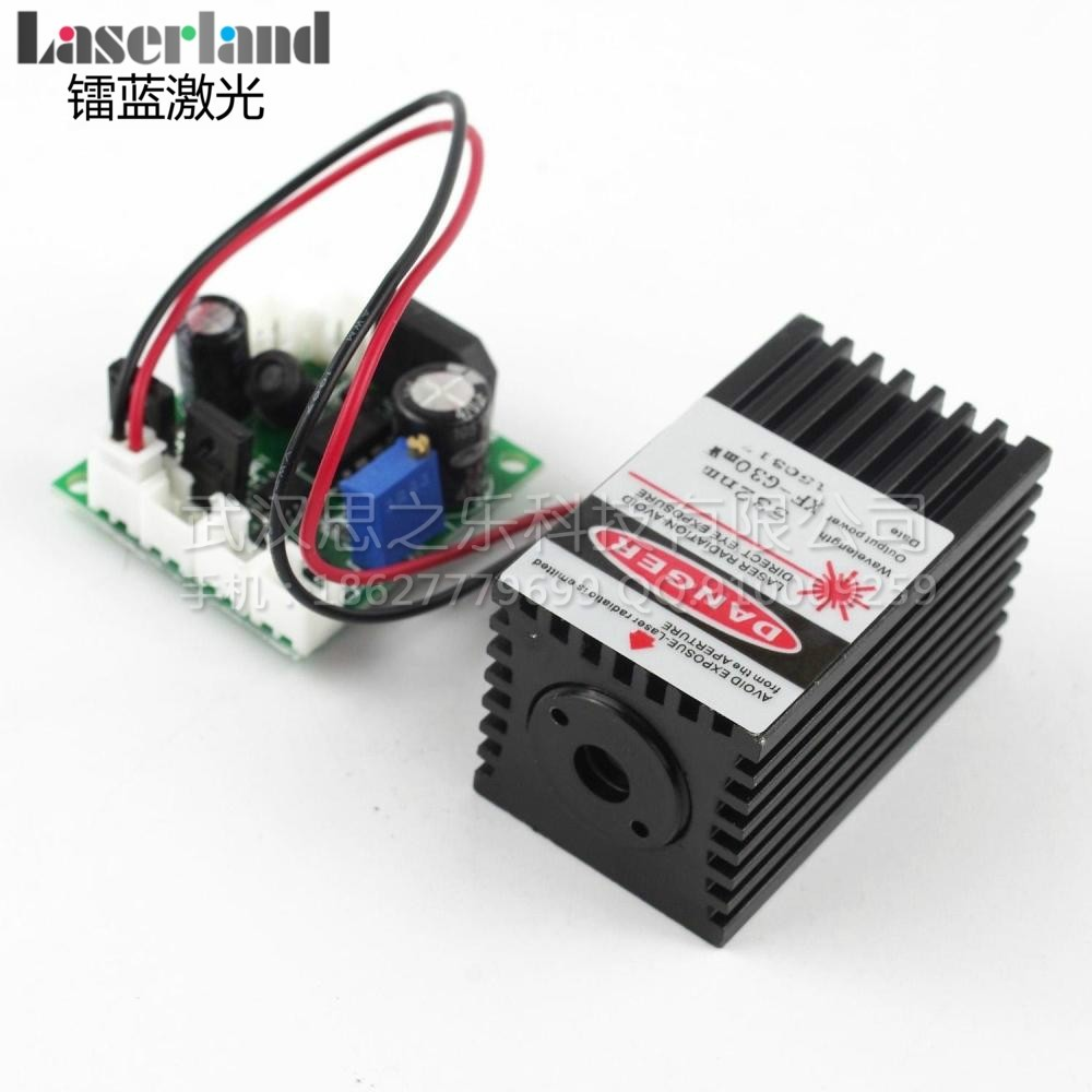 3050 532nm 30-50mW Green Dot  Laser Module DC/AC 12V TTL 0-5V