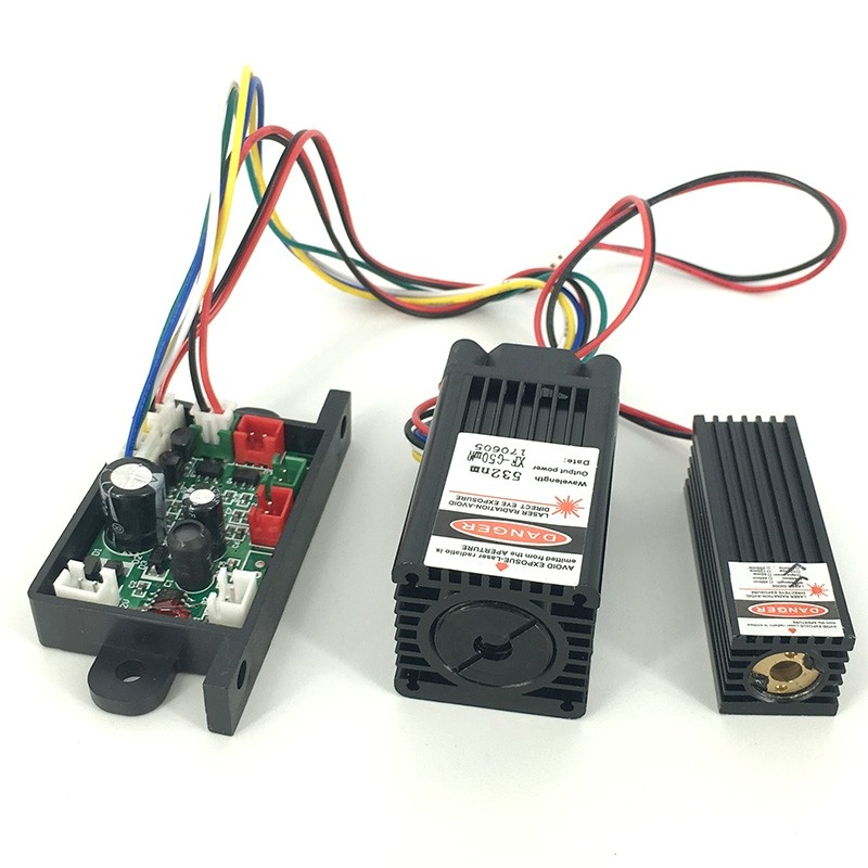 650nm 150mW Red + 532nm 50mW Green Laser Module TTL 12V Stage Lighting TEM