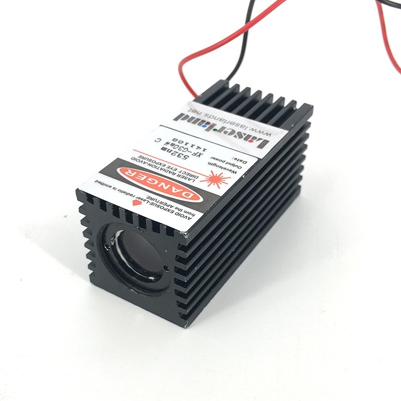 3258 30mW 532nm Green Dot Laser Module TTL 12VDC