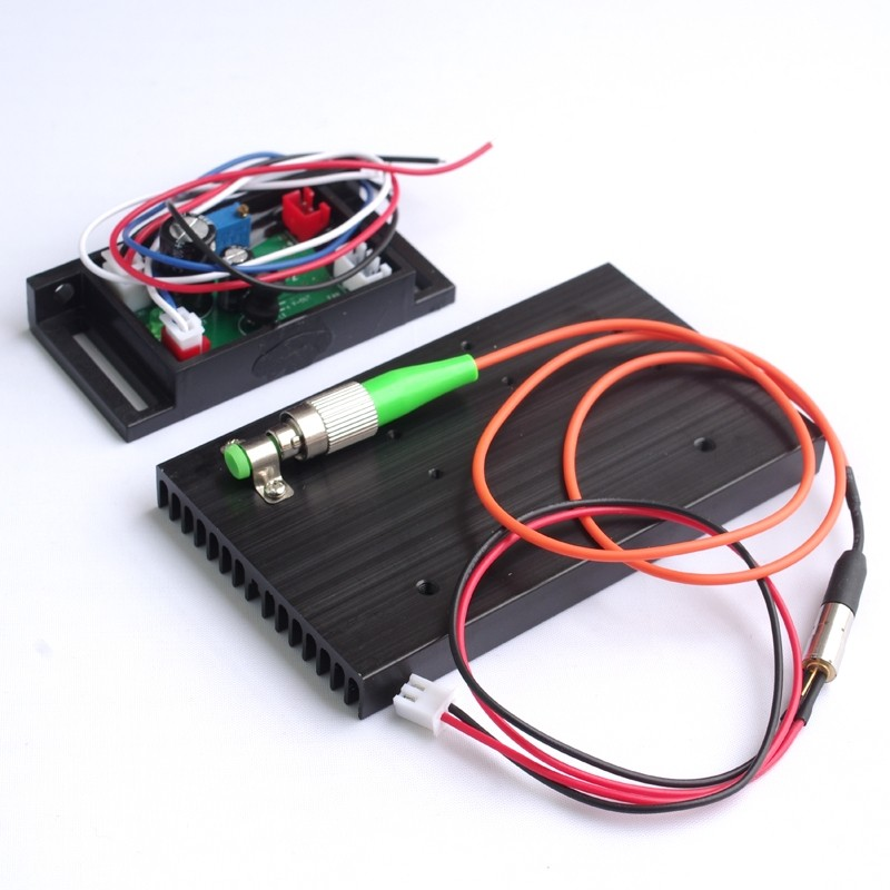 Pigtailed Fiber Laser 405nm 5mW 62.5/125um FC / APC 12VDC