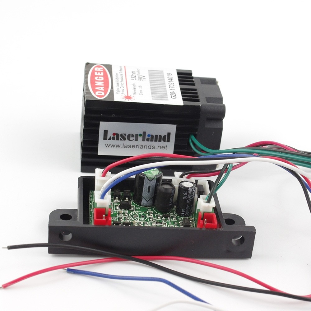 3450 50mW-70mW 532nm Green DOT Laser Module TTL TEC Fan 12V