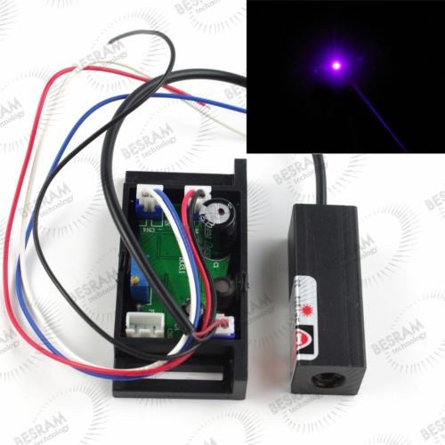 50mW Blue/Violet 405nm Laser DOT Diode Module with TTL Stage Lighting Show