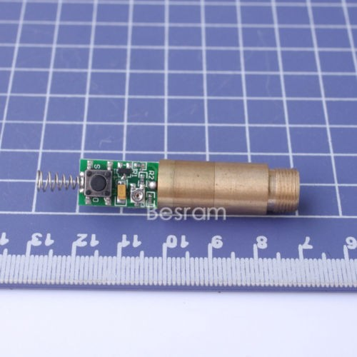 5mW-10mW D=12mm 532nm Green Dot Laser Module 3VDC