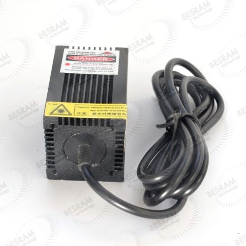 3354 650nm 200mW-250mW Red Dot Laser Module with Fan Adapter 5VDC