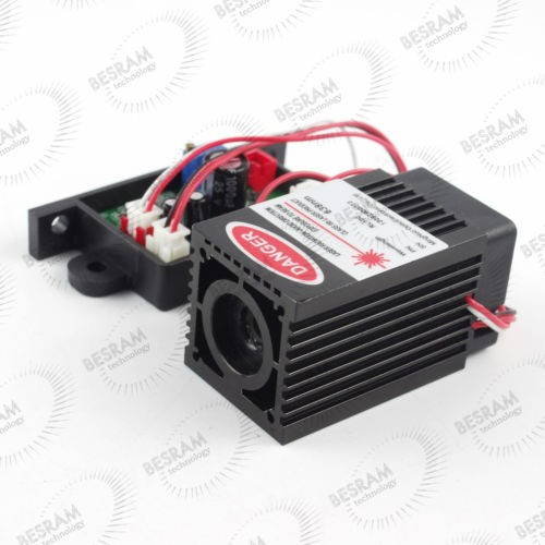 3450 300mW 637nm Dot Laser Module TTL/analog 12VDC
