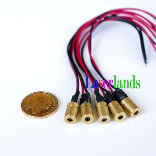 8*13mm 1mW 5mW 650nm Red Dot Focusable Laser Module 3VDC