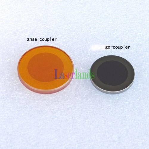 CO2 Laser ZnSe Ge Output Coupler Partial Reflector Mirror for Engraver 20mm 25mm