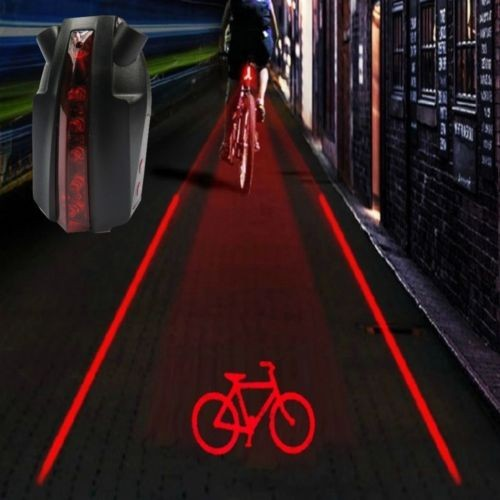 Bike Bicycle Intelligent Laser 5 LED Rear Light Cycling Tail Light B-Type
