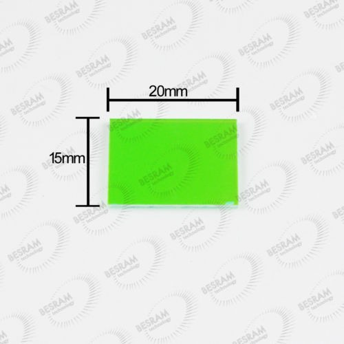 5pcs Reflection Reflector Mirror 15x20mm Red reflected Green Pass through