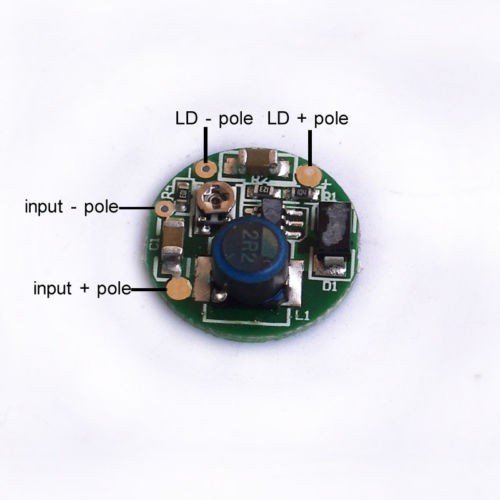 3.7-4.2VDC 1W/1.4W/2W Blue 445nm 450nm Laser Diode LD Driver Power Supply 2.5A