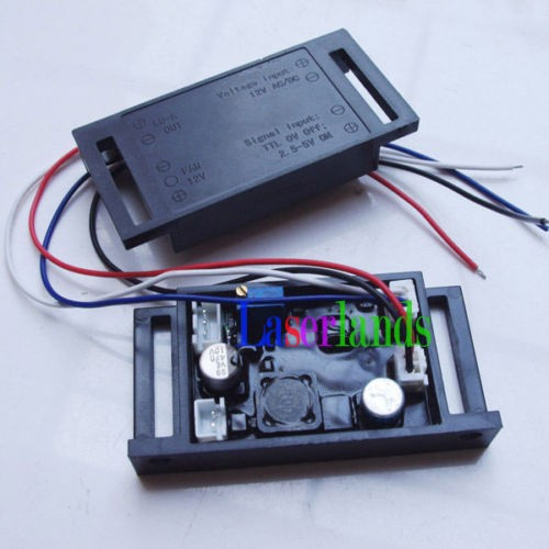 Power Supply Driver for 635nm 638nm Red/Orange Laser Diode TTL 12V 1.2A 50mw-500mw