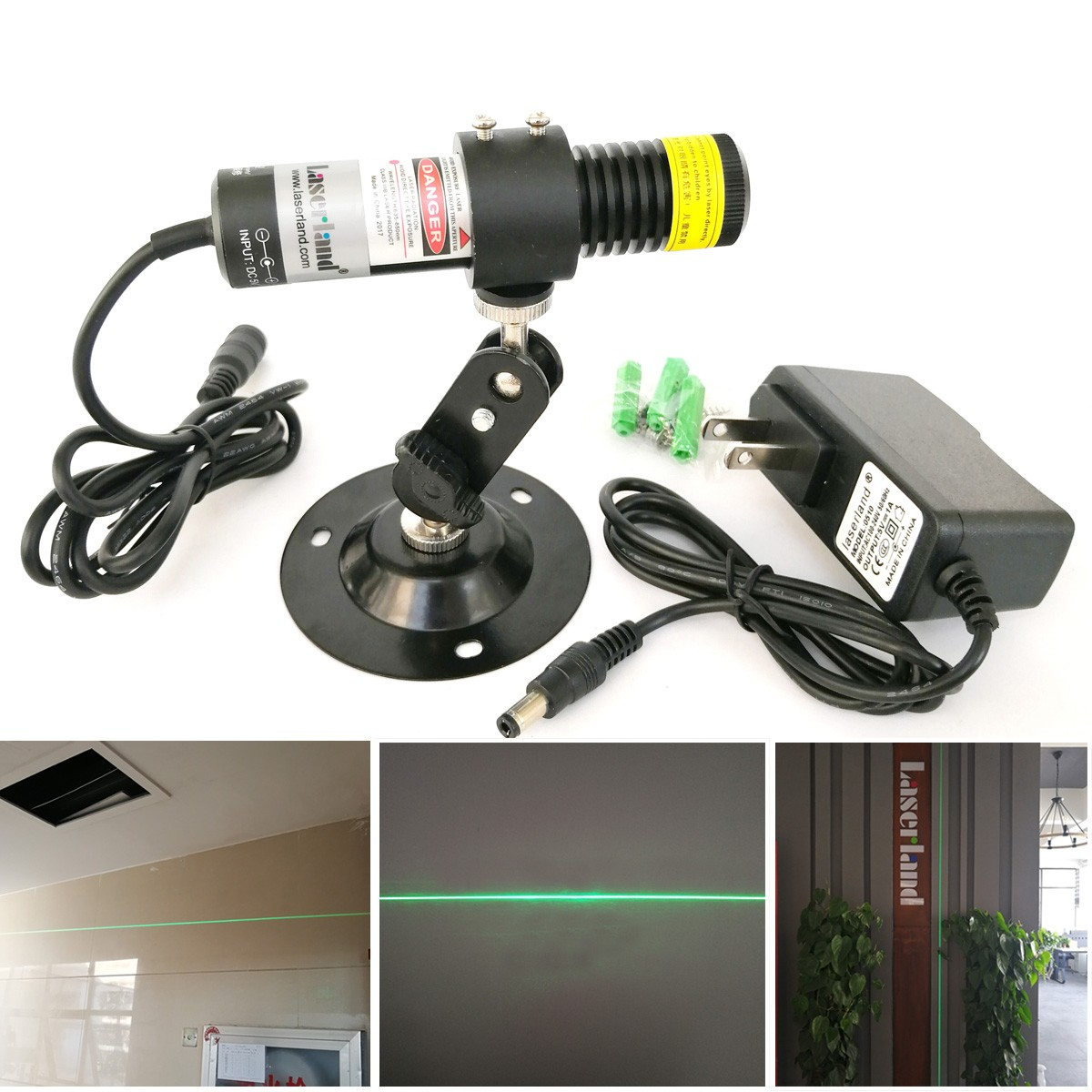22*100 Water-proof 510nm 10mw Green Line Laser Diode Module for Stone Wood Cutting