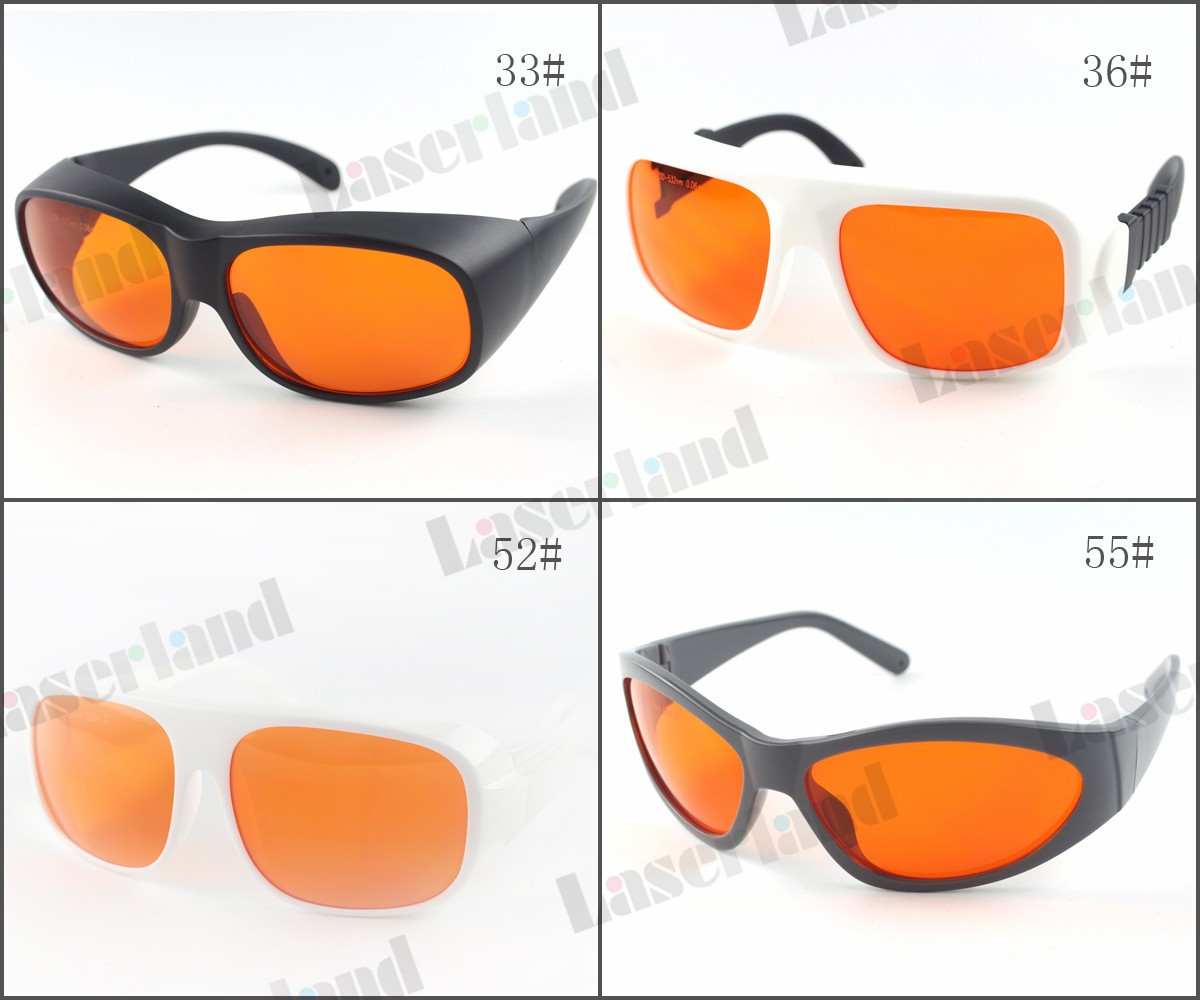 LP-GHP 200nm - 532nm OD 6+ Blue Green Laser Protective Goggles Safety Glasses T=50%