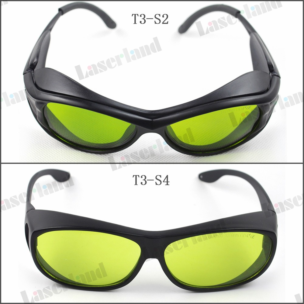 T-3 190-450nm&800-1100nm OD4+ Blue+IR Laser Protective Goggles Safety Glasses CE