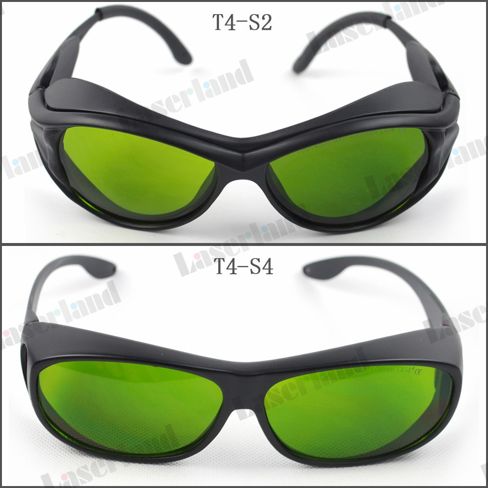 T-4 190-450nm&800-1700nm OD4+ Blue+IR Laser Protective Goggles Safety Glasses CE