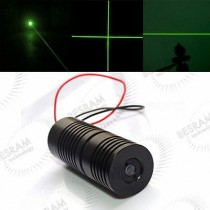 25*67mm 532nm 100mW Green Cross Laser Module Glass Lens