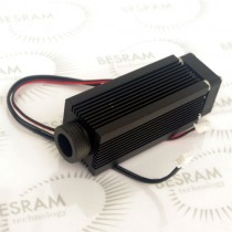 Heatsink for C-mount Laser Diode Module 33*80mm w/ Glass Lens