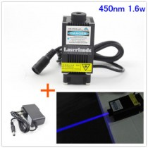 33*55mm 1600mW 450nm Blue Dot Laser Module for CNC Engraving Cutting