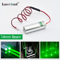 22*70 Fat Beam 532nm 50mW Green Dot Laser Module for KTV Bar DJ Stage Lighting