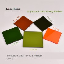 W1 190-550nm 405nm 450nm 515nm 520nm 532nm OD4+ OD6+ Laser VIewing Window