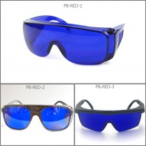 PB-RED Red 635nm 650nm 660nm Laser Protection Goggles Safety Eyewears Glasses OD4+