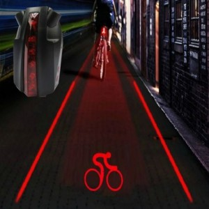 Bike Bicycle Intelligent Laser 5 LED Rear Light Cycling Tail Light A-Type