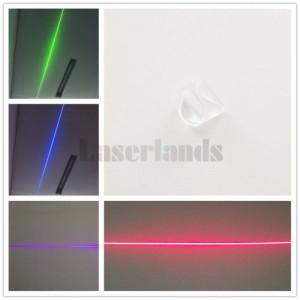 K9 110º Laser Optical Prism Line Glass Lens Powell Lens 9mm