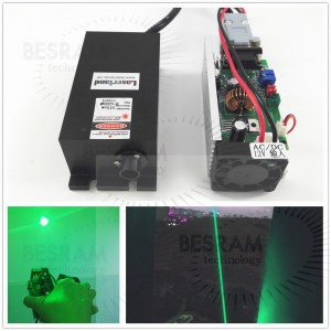 2W 520nm Green Dot Laser Module TTL/Analog Stage Lighting